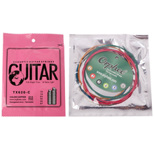 TX620-C Colorful Acoustic Guitar Strings Extra Light 010-047''(China)