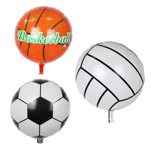 3pcs 18inch Round Sport Ball Shape Foil Balloon Football Basketball Volleyball Inflatable Air Ballons Kids Birthday Party Gifts
