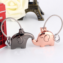 Cute Kiss Elephant Couple Keychain For Lovers Gift Trinket Lovely Key Holder Women Present chaveiro llaveros Innovative Items