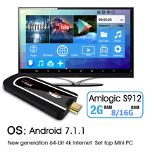 NEW H96 Pro Mini PC Android 7.1 Smart TV dongle Amlogic S912 Octa Core 2G +8G/16G H.265 KOD 4K small Media Player