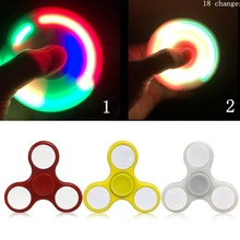 LED Light Fidget Spinner Finger ABS EDC Hand Spinner Tri For Kids Autism ADHD 5 Styles Anxiety Stress Relief Focus Handspinner