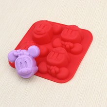 10pcs/lot Silicone 4C Minnie MOUSE Cake Chocolate Soap Pudding Jelly Candy Ice Cookie Biscuit Mold Mould Pan Bakeware Wholesales