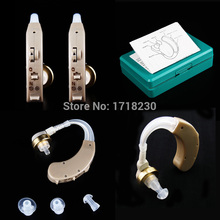 A Pair of Digital  Ear Hearing Aid Aids Kit Personal ear care Behind the Ear BTE Sound Voice Amplifier