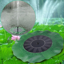High Quality Solar Water Panel Power Fountain Pump Kit Lotus Leaf Floating Pump Pool Garden Pond Watering Submersible Pumps