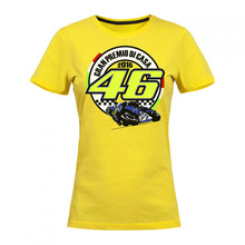 Free shipping 2016 Valentino Rossi VR46 Yellow Misano Moto GP Women's T-shirt Marc Marquez Large 93 Moto GP Womens T-shirt