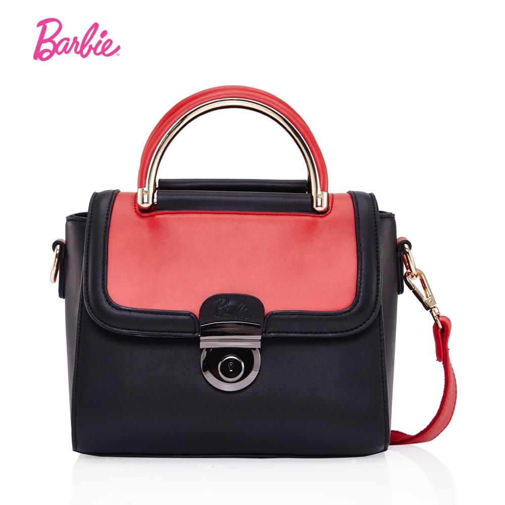 Barbie 2017 Women Shoulder Bags lovely delicate PU Leather handbag fashion modern Cross body Bags Female Bags orange color <br>