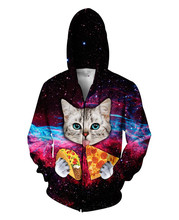 Taco Cat with blue eyes Zip-Up Hoodie Women Men 3D fashion casual sweatshirt  design Hoody Tops Jumper Hoodies Loose coat