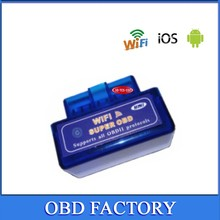 Mini WIFI super OBD ELM 327 factory product Mini ELM327 OBD2 II can use in Android and IOS Car Auto Diagnostic Scanner Tool