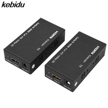kebidu Network Cable with RJ45 Receiver Sender HDMI Extender Transmitter LAN Interface CAT5e CAT6+60m For DVD For PS3 Projector