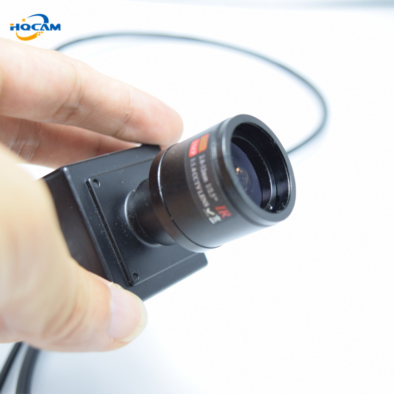 HQCAM 720P 1.0MP mini IP Camera indoor Miniature ONVIF 2.0 2.8-12mm manual varifocal zoom lens P2P Plug and Play With bracket<br>