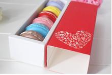10pcs 19*7*5cm Colorful Paper Drawer Type Macaron Box Muffin Cookie Dessert Chocolate Cake Packaging Box Party Gift Packing Box
