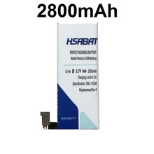 HSABAT 2800mAh Battery Use for iphone 4 iphone4 iphone 4G iphone4G(China)