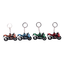 Motorcycle Pattern Keychain Key Chain Ring Key Pad Classic 3D Pendant Rubber Red for Yamaha Motocross ATV Dirt Bike MX KTM