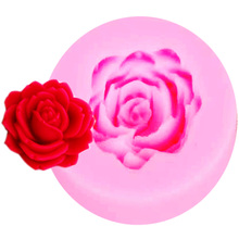 M750 3D Rose Flower Silicone Mold Fondant Cake Decorating Chocolate Cookie Polymer Clay Resin baking molds(China)