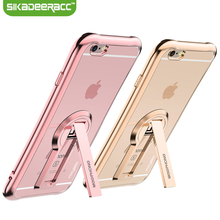 Kickstand TPU Clear Phone Cases For iPhone 5 5s 6 6s 7 Plus SE Cell Phones Shockproof Protective Back Covers For iPhone 6 s GK19