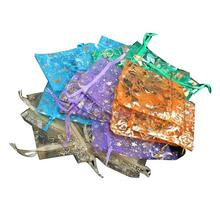 50 pcs Organza Jewelry Candy Pendent Mixed Color Mini Gift Pouch Bags Wedding Party Favor