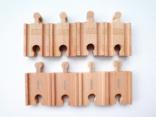 "TT03-- Thomas & Friend Wooden Railway 8pcs 2"" Short Straight Tracks Loose"