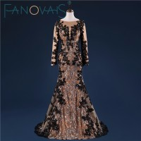 Real-Photo-Mermaid-Black-And-Gold-evening-Dresses-2017-Sequin-and-lace-kaftan-dubai-dresses-for_conew1