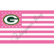 Green Bay Packers Flag Large Logo pink stripe Outdoor Flag 3' x 5' Banner(China)