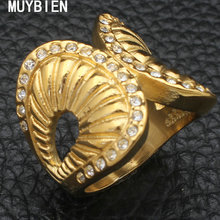 MUYBIEN New hot Fashion gold color Exquisite Noble Lovely wings ring jewelry for women man,adjustable Free shipping RBJKANBG(China)