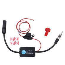 Car Radio Aerials 12V Auto Car Radio FM Antenna Signal Amp Amplifier Booster Radio FM for Car Boat RV Signal Enhancer Device(China)