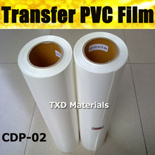 Super quality wholesale PVC heat transfer vinyl film by free shipping with size:0.5x25m per roll CDP-02 WHITE