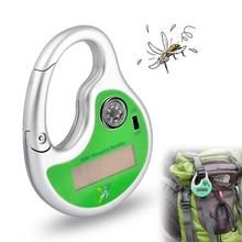 Outdoor Portable Electronic Mosquito Repeller Hook Type Solar Ultrasonic Mosquito Insect Killer with Compass