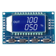 Signal Generator PWM Pulse Frequency Duty Cycle Adjustable Module LCD Display 1Hz-150Khz 3.3V-30V PWM Board Module(China)