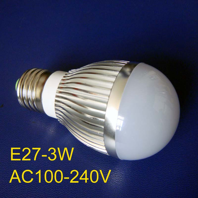 High quality E27 3w led lamp free shipping 5pcs/lot<br><br>Aliexpress