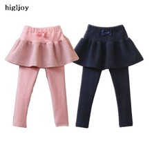 Baby Bow Girls Spring 2017 Female Children Cotton Wear Kids pants And Skirt Cute Little Girls Leggings Kids Winter Warm Legging