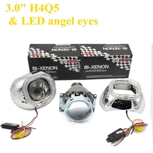 2pcs 3.0 inch hella 5 Bixenon hid Projector lens fast start 35w/55 with smax shrouds hid xenon kit headlight fit for d1s d2s d3s
