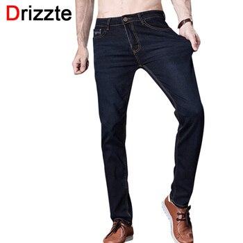 Drizzte marca dos homens calça jeans tamanho 28 a 42 preto azul Denim Stretch Slim Fit Homens Jean para o Homem Calças calças de brim
