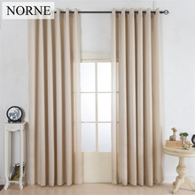 NORNE Faux Silk Country Style Window Curtains Light Filtering Drape for Living Room Dividers Bedroom Privacy Home Blinds curtain(China)