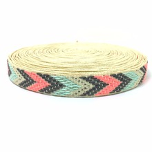 ZERZEEMOOY NEW 5/8'' 15mm 10yard/lots 100% polyester Color arrow geometry Woven Jacquard Ribbon dog chain accessories