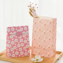 24 компл. 3 стиль бумажный мешок розовый Сакура Цветет вишня оригами дизайн подарочной упаковки день рождения конфеты Холдинг(China)