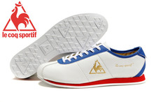 Le Coq Sportif Men's Running Shoes,High Quality Cow Leather Upper Le Coq Sportif Men Athletic Shoes Sneakers White/Blue/Golden 4