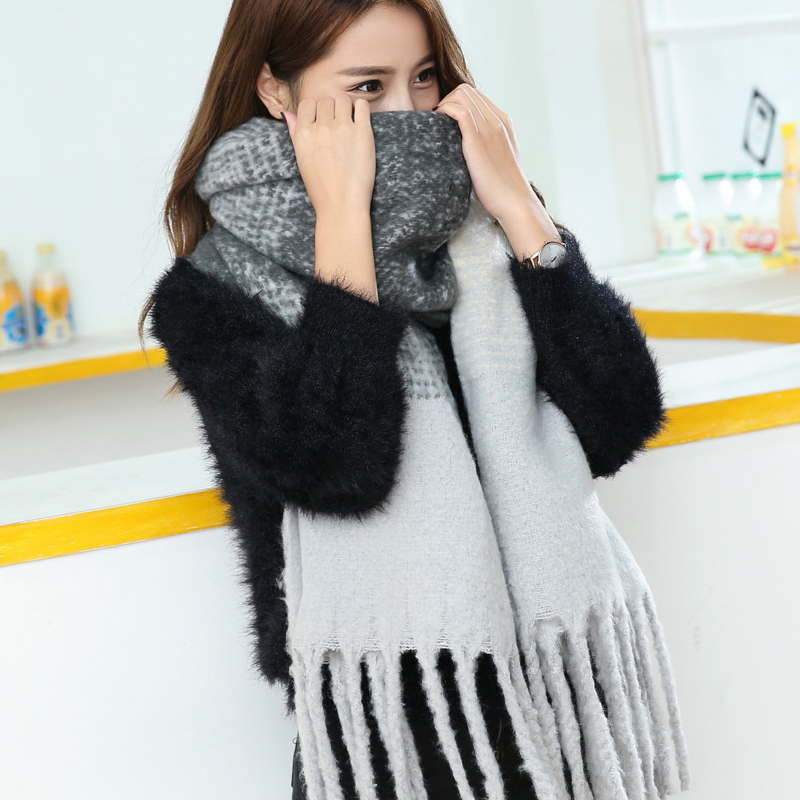Winter Scarves for Women 2018 Ladies Cashmere Scarf Shawls For Luxury Brand Winter Warm Blanket Scarf Female Tassel Plaid Scarf
