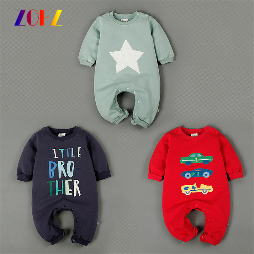 ZOFZ Baby boys clothes cute baby rompers jumpsuit comfortable clothing for newborn babies long sleeved baby Clothing for bebes<br><br>Aliexpress