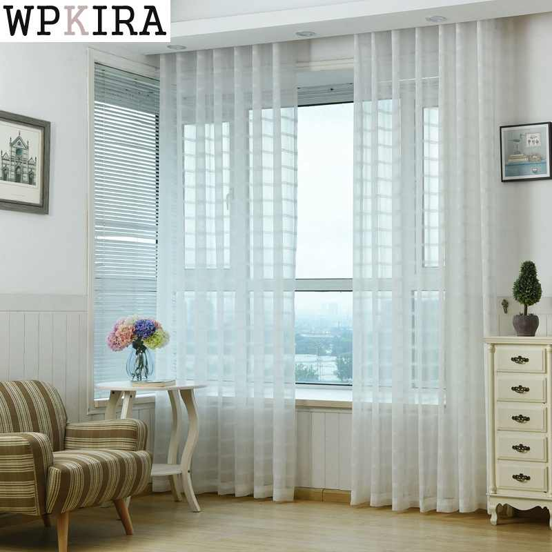 European Luxury Embroidered Voile Curtains for the Bedroom Sheer Curtains for Living Room Tulle Window Curtains wp040&30