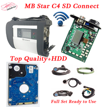 2017High level mb star C4 connect Full Set diagnosis Tool MB Star c4 SD+09HDD Compact 4 multiplexer Xentry/Vediamo mb C4 DHL Fre(China)