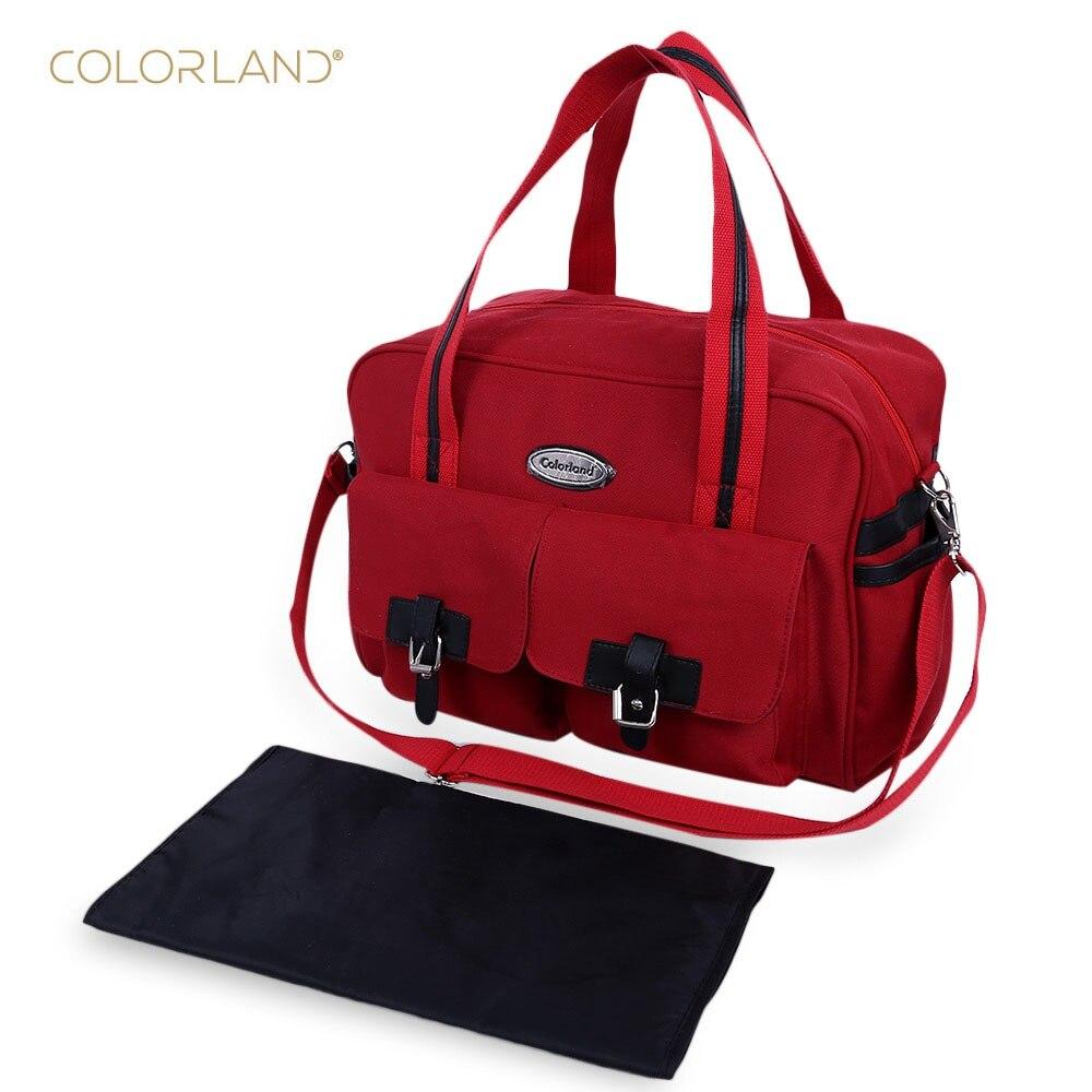 Colorland Brand Waterproof Mum Baby Diaper Food Handbag Mummy Bag Baby Nappy Bags Newborn Diaper Big Bags with 2017 Fashion<br><br>Aliexpress