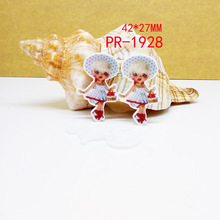 Kawaii Acrylic Hair Bow Jewelry Accessories Baby Christmas Figurine Flat Back Planar Resin Craft Diy Cartoon Patch Refrigerator