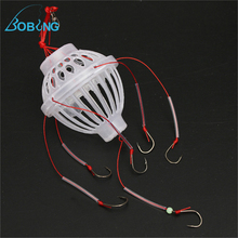 Fishing Tackle Sea Box Hook With Six Strong Explosion Hooks Spherical Shape Carton Steel And Plastic Material Spinner Spinners