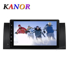 Kanor 9 inch Android 5.1.1 GPS Navigator For BMW E39 X5 E53 M5 Car Radio with Car Video Cassette Player Multimedia System