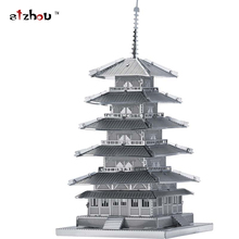New creative Tower 3D puzzles 3D metal Building model Creative DIY Five-story pagoda Jigsaws Adult/Children gifts toys Etc.