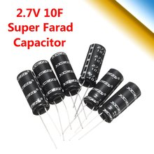 New Arrival 1 PC Black Farad Capacitor 2.7V 10F 10MM Diameter 26MM Length Super Capacitor 26mm DIY on Sale