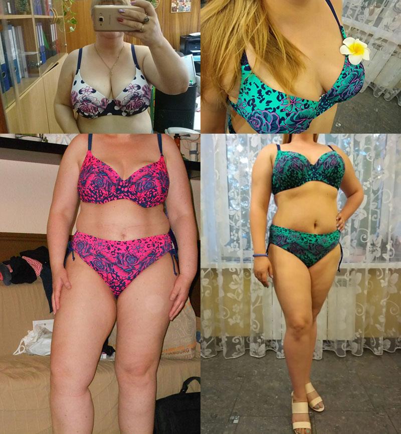 18 Large Size Female Floral Swimsuit Push Up Bather Women Split Big Breast Bust Bikini Set Plus Size Bathing Clothes Swimwear 3