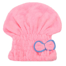 4 Colors Soft Microfiber Hair Quick Dry Head Wrap Hat Cap Bowknot Design Bath Drying Towel Turban Bathroom Bathing Tool