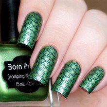 1pc 15ml Shimmer Born Pretty Nail Art Stamping Polish Green Color Nail Polish 37#(China)