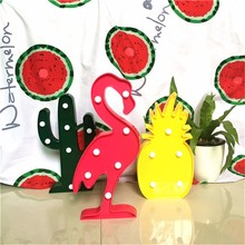 3D LED Shine Flamingo Lamp Pineapple Table Light Cactus Night Lamp Marquee LED Letter Nightlight for Home Christmas Decoration